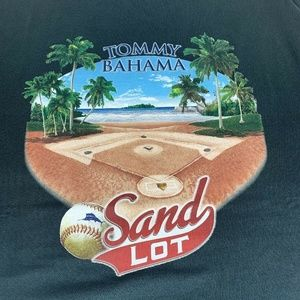 "Yommy Bahama Black ""Sand Lot"" SOFT T Shirt XLT"